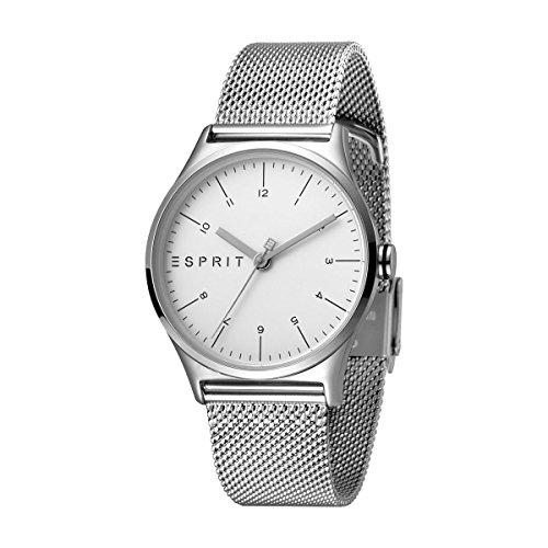 Esprit Damen Analog Quarz Uhr mit Edelstahl Armband ES1L034M0055