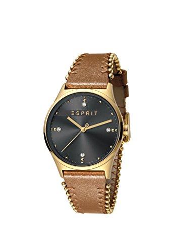 Esprit Damen Analog Quarz Uhr mit Leder Armband ES1L032L0035