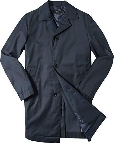 BOSS Hugo Herren Mantel Warme Jacke Uni & Uninah, Größe: 48, Farbe: Blau