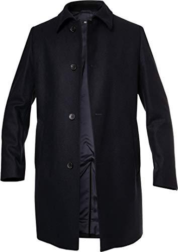 BOSS Hugo Herren Mantel Warme Jacke Uni & Uninah, Größe: 50, Farbe: Blau