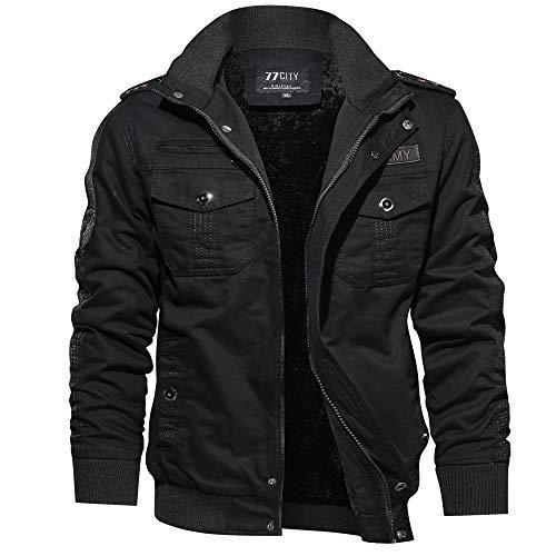 Celucke Winterjacke Herren mit Mehrfache Tasche,Männer Military Jacke Britannia Version Übergangsjacke Winterparka US…