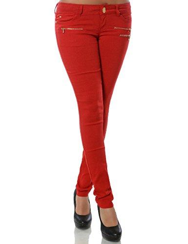 Damen Skinny Hose Treggings Stretch DA 15528