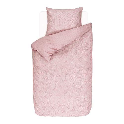 Esprit Bettwäsche Coy Pink Kreise Baumwollsatin 155 cm x 220 cm