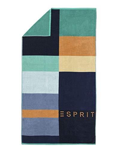 ESPRIT Strandlaken Lani Streifen Strandtuch Badetuch Blau 100 cm x 180 cm