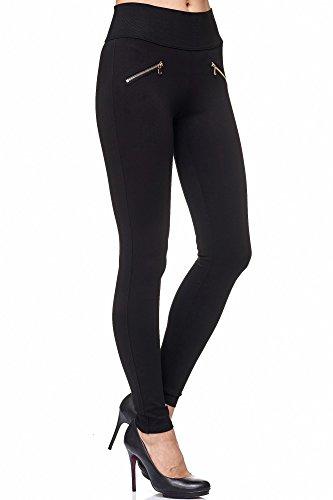 Elara Damen Stretch Hose |High Waist| Skinny Jegging | hoher Bund | Slim Fit | Chunkyrayan