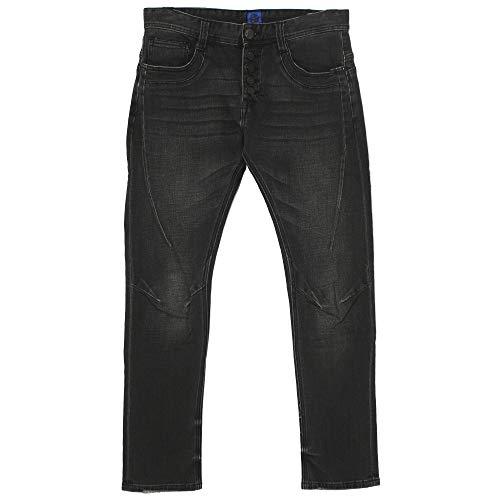 Elias Rumelis, Herren Jeans Hose, Biker,Stretchdenim,Black Used [21153]