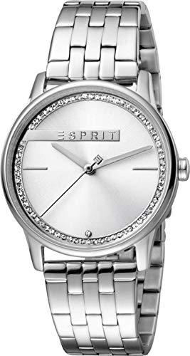 Esprit Damen Analog Quarz Uhr mit Edelstahl Armband ES1L082M0035