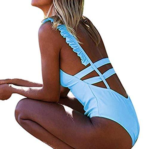 Bikini Sannysis Frauen Bademode Push-Up Gepolsterter Fester Rückenfreier BH Beachwear Einteiliger Badeanzug