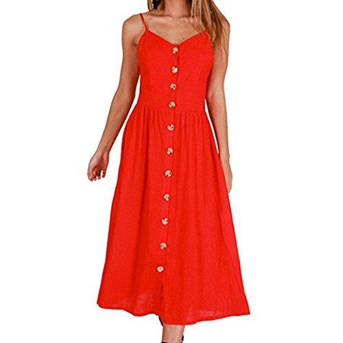 Damen Sommerkleider,Beikoard Frauen Sexy Druckknöpfe aus Schulter ärmelloses Kleid Prinzessin Kleider Abendkleider Lang Sommerkleider Elegante Kleider Festliche Kleider Lange Kleider