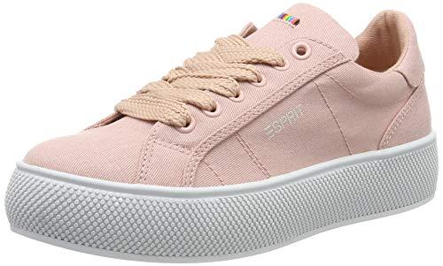 ESPRIT Damen Plateau-Sneaker aus Canvas