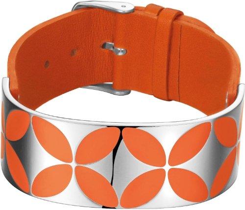 Esprit Damen-Armband Thriving Flora Caribian Coral Edelstahl Leder 17 cm