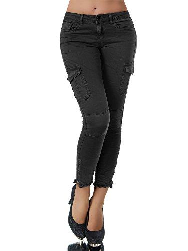 N722 Damen Jeans Hose Damenjeans Röhrenjeans Röhrenhose Röhre Normaler Bund