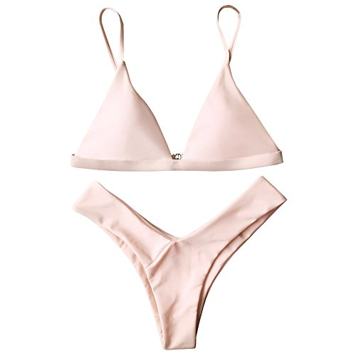 ZAFUL Damen Sport Push-Up Wickeln Bikini Sets Bademode Badeanzug Swimwear Swimsuit