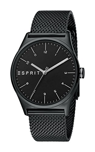 Esprit Herren Analog Quarz Uhr mit Edelstahl Armband ES1G034M0085
