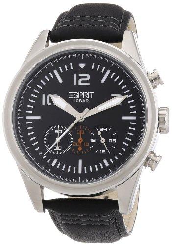 Esprit Herren-Armbanduhr XL Chester Analog Quarz Leder ES106321002