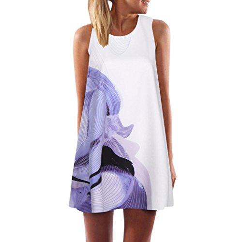 TEBAISE Neue Art und Weise Art-Weinlese-Boho-Frauen-Sommer-Junggeselinnen-Abschieds-Blumen-Logo-Sleeveless Strand druckte kurzen Minikleid-Geraden Rock
