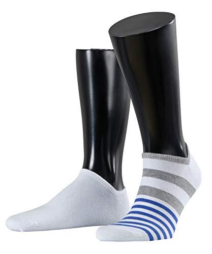 ESPRIT Herren Mixed Stripe Sneaker Socken 2er Pack - 2 Paar, Größe 40-46, verf. Farben: weiß, grau, Baumwollmischung…