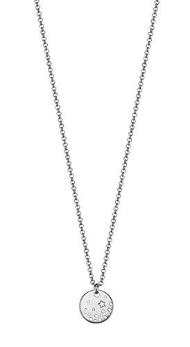 ESPRIT Damen-Kette mit Anhänger 925 Silber rhodiniert Zirkonia weiß Brillantschliff