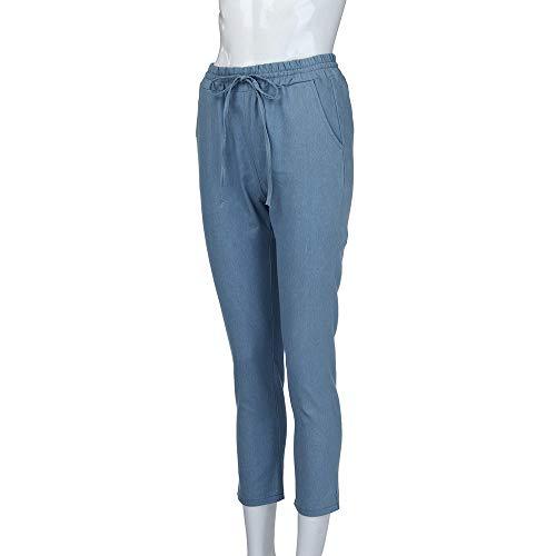 Aberimy Jeans Damen Stretch Jeanshose Denim Hose Röhrenjeans Skinny Slim Mid Casual Fit Stylische Zerrissene Boyfriend Schnüren Lässig Jeans Hose