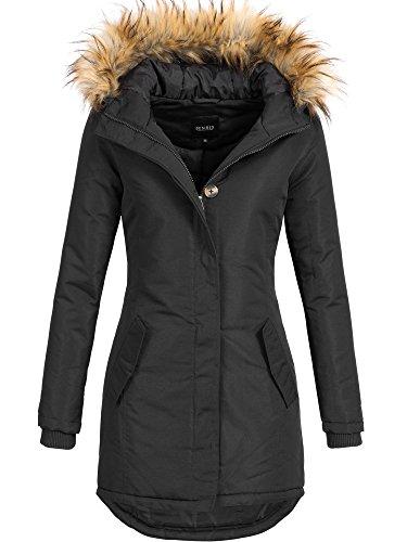 DESIRES Damen Envy Parka Lange Jacke Designer Winter-Mantel mit Kapuze aus hochwertigem Material