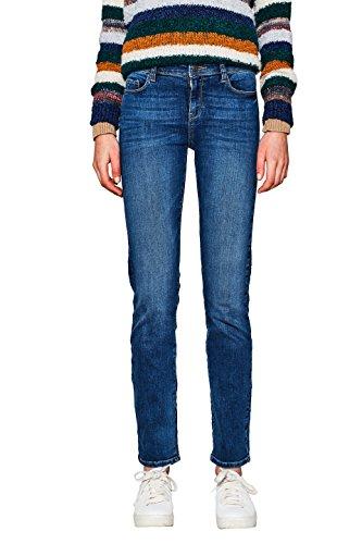 ESPRIT Damen 997EE1B812 Straight Jeans, Blau (Blue Medium Wash 902), W33/L30