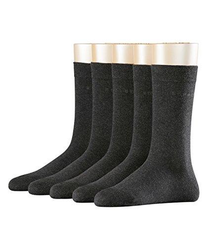 ESPRIT Damen Solid Socken, Blickdicht (5er Pack)