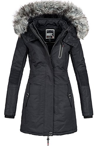 Geographical Norway Damen Jacke Winterparka Coracle/Coraly XL-Fellkapuze