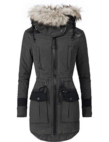 Khujo Damen Winter Mantel Winterparka YM-Retro Bugs 4 Farben S-XXL
