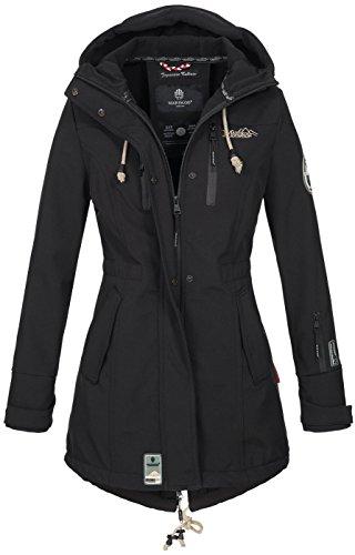 Marikoo Damen Winter Jacke Winterjacke Mantel Outdoor wasserabweisend Softshell B614