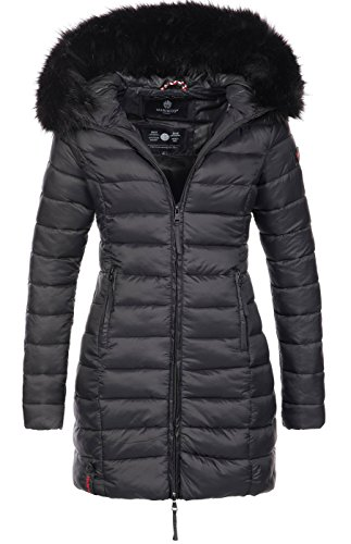 Marikoo Damen Winter Übergangs Jacke Winterjacke Stepp Mantel gesteppt B647