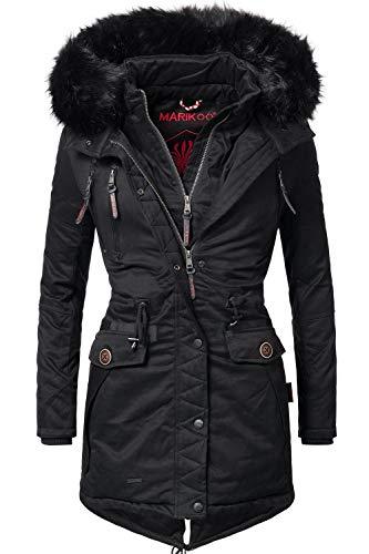 Marikoo Damen Winter Mantel Winterparka Rose (vegan hergestellt) 8 Farben XS-XXL