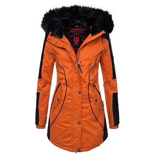 Marikoo Designer Damen Winter Parka warme Winterjacke Mantel Jacke B372