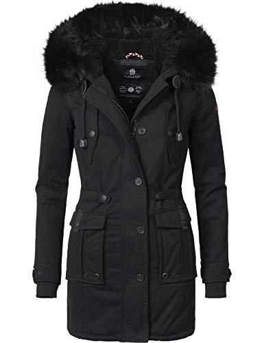 Navahoo Damen Winter Mantel Baumwoll Parka Luluna 9 Farben XS-XXL