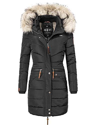 Navahoo Damen Winter Mantel Steppmantel Paula (vegan hergestellt) XS-XXL