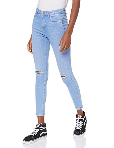 New Look Damen Rip Fray Hem Disco Jaffa Skinny Jeans