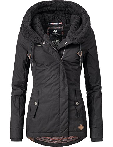 Ragwear Damen Mantel Wintermantel Winterparka YM-Monica (vegan hergestellt) 3 Farben XS-XL