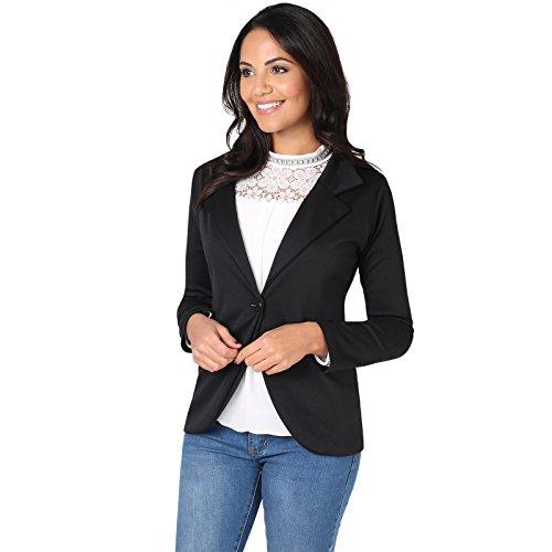KRISP Damen Blazer Jacke aus Weichem Jersey Stoff Casual