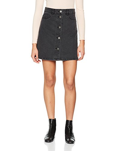 Noisy may Damen Nmsunny Short DNM Skater Skirt Blck Noos Rock