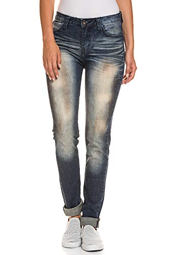 Liebeskind Berlin Damen Stretch-Jeans Used-Look