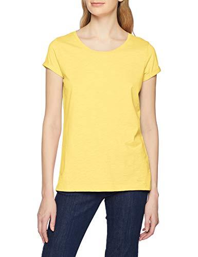 edc by ESPRIT Damen 999CC1K802 T-Shirt, Gelb (Light Yellow 745), Medium (Herstellergröße:M)