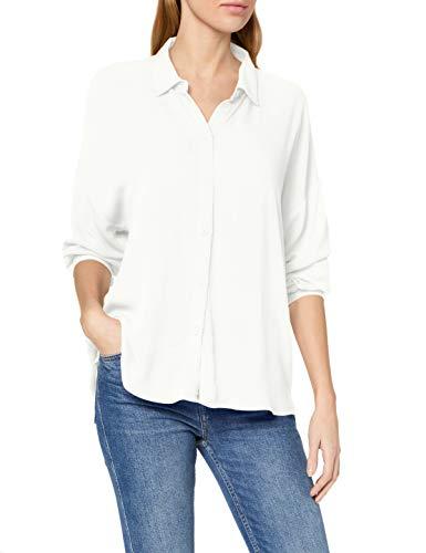 edc by ESPRIT Damen 010CC1F305 Bluse, Weiß (Off White 110), Large (Herstellergröße:L)