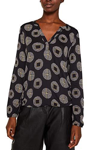 ESPRIT Damen 999Ee1K840 Langarmshirt, Schwarz (Black 001), (Herstellergröße: XX-Large)